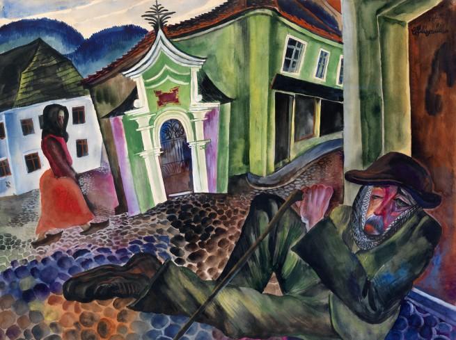 The Beggar of Prachatice (1924), de Conrad Felixmüller.